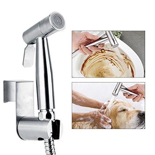 EBTOOLS Bidet Sprayer, G1 / 2 Edelstahl WC Handbrausen Messing WC-Bidet Dusche Kopf Bidet Handbrause mit 2 Wassersprühwegen, für die persönliche Hygiene Hundedusche Baby Windel Sprayer, 521 Typ