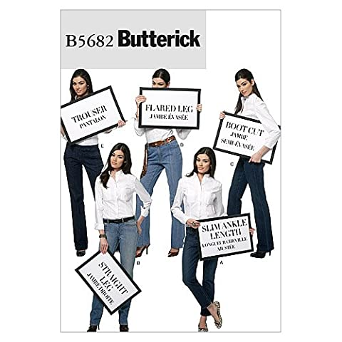 Lot Patron Couture - Butterick Patterns b5682 Taille A5 6–8-10–12–14 patron pour pantalon de
