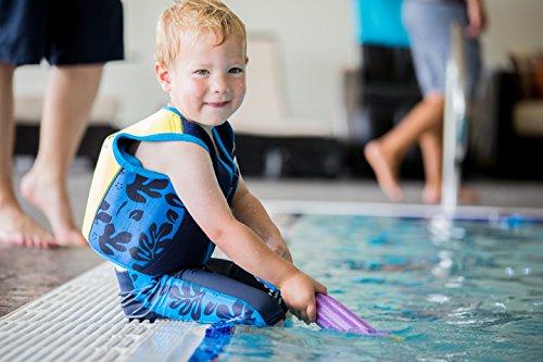 Die original Konfidence Kinder Schwimmweste, unisex, Original, Fuchsia Wave,18 monate-3 Jahre Navy/Blue/Palm