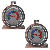* * Twin Pack * * Kühlschrank Thermometer und Gefrierschrank Thermometer aus Edelstahl mit empfohlen sicheren Chilled Food Aufbewahrung Zonen