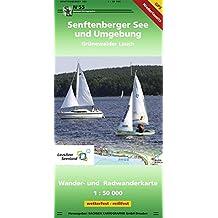 Senftenberger See und Umgebung: Wander- und Radwanderkarte 1 : 50 000 GPS-fähig, wetterfest, reißfest