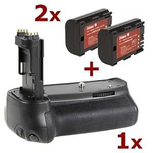 Delamax Batteriegriff & 2 Akkus für Canon EOS 6D (ersetzt BG-E13, LP-E6 in Originalqualität)