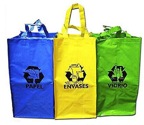 Sini Bolsas Reutilizable Reciclaje para Papel