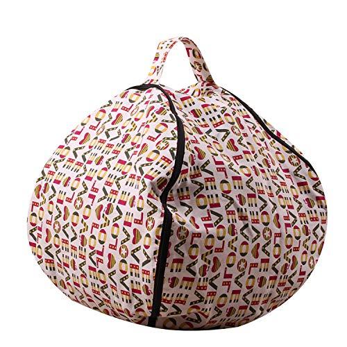 ch Alphabet Gefüllte Spielzeug Kleidung Lagerung Bean Bag Mehrzweck Lagerung Leinwand Organisieren Tasche 18/26/38 Zoll,18inch ()