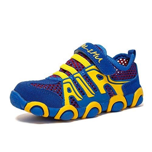 ZOEASHLEY Kinder Wanderschuhe Trekking Schuhe Sommer Outdoor Sneaker mit Klettverschluss für Jungen Mädchen Gr.26-37