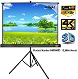 #9: Inlight Cineview Series Tripod Type Projector Screen 8 Ft. (Width) X 6 Ft. (Height), Comes With Tripod Stand, Supports 3D And Full HDTV Format