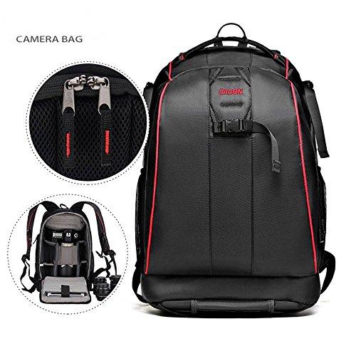 Candora Schwarz Nylon Wasserdicht Kamera DSLR Outdoor Reise Rucksack Tasche für Sony Canon Nikon Pentax Olympus Kameras Pentax-box