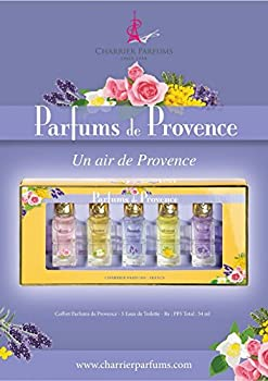 Charrier Parfums de Provence Coffret de 5 Eau de Toilettes Miniatures Total 54 ml