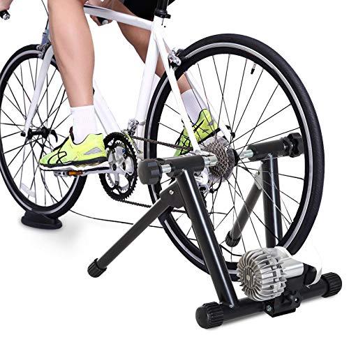 HOMCOM Rodillo Entrenamiento para Bicicleta Plegable Entrenador para Bicicleta en Interior Resistencia Ajustable Marco Acero Carga 100kg