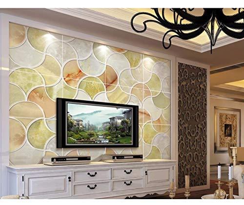 Preisvergleich Produktbild Xzfddn Custom 3D Wallpaper Einfache Europäische Art Jade Mosaik Hintergrund 3D Wallpaper Für Raum 3D Angepasste Tapete-150X120CM