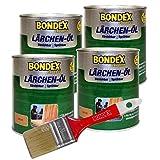 Bondex Express Lärchenöl 3 l, inkl Gratis Bondex Pinsel