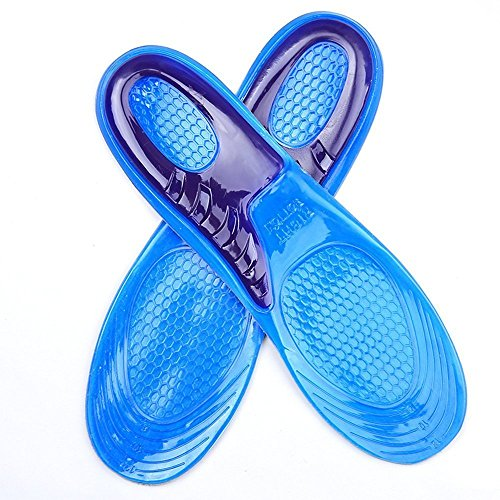 Hommii Silikon Gelsohlen Orthesen Schuheinlagen Massagesohlen Stoßdämpfung Atmungsaktiv Schweiß Deodorant Blau+Lila für Damen