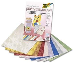 Folia 5102309  - Cartón creativo de colores (230 g / m², 23 x 33 cm, 10 hojas) Importado de Alemania