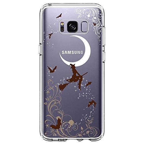 Samsung Galaxy S8 Hülle, TrendyBox Transparent Weiche TPU Ränder mit hartem PC Rückdeckel Schutzhülle Hülle für Samsung Galaxy S8 (Halloween Hexen) (Halloween Zubehör Bulk)