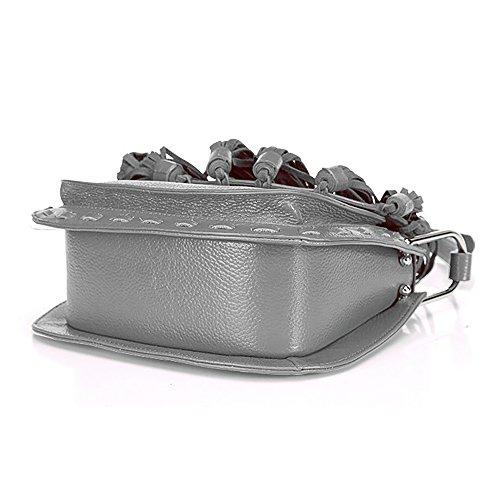 Jieway - Borsa a tracolla donna Grey