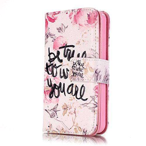 iPhone 6S Plus Hülle Glitzer,iPhone 6S Plus Hülle Leder,iPhone 6 Plus Hülle,Leder Handy Tasche Wallet Case Flip Cover Etui für iPhone 6 6S Plus,EMAXELERS Cute Blumen Campanula Muster Design Schutzhüll E Butterfly Flower 11
