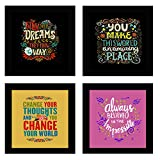 Best Frames With Quotes - Sifty collections Wall Decor Follow Your Dreams Motivational Review