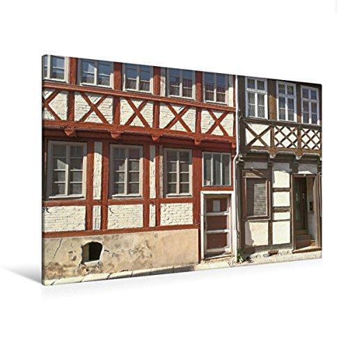Premium Textil-Leinwand 120 x 80 cm Quer-Format Quedlinburg, Altentopfstraße | Wandbild, HD-Bild auf Keilrahmen, Fertigbild auf hochwertigem Vlies, Leinwanddruck von Jost Galle