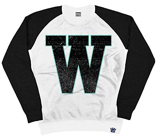 University of Whatever - Crew Neck Sweat-Shirt - Femme Blanc/Noir
