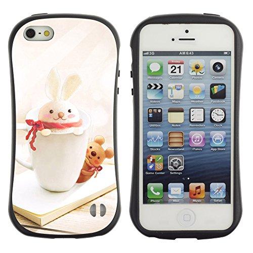 Graphic4You Red Heart Raindrops Design Harte Hülle Case Tasche Schutzhülle für Apple iPhone SE / 5 / 5S Design #3