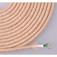 EDM Cable de Cuerda de Yute Tejida y enfundada 3x0.75 25m
