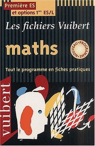 Fichier maths premiere ES - L, nouveau programme par Cressini