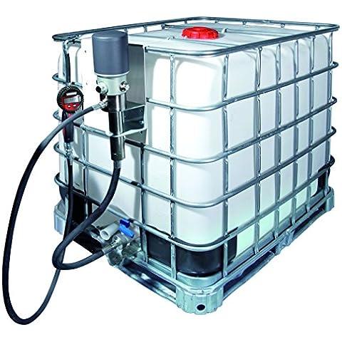 Equipo de lubricación para aceite en GRG. Bomba neumática 5:1 GC. Pistola contadora digital con salida antigoteo. Manguera