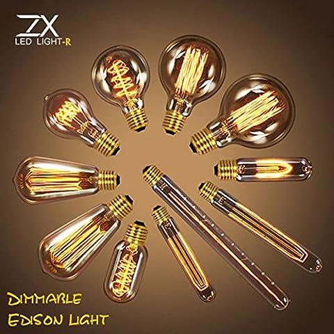 Bazaar Zx dimmerabile antico filamento retro annata pendente 40W lampadario lampadina ad incandescenza 110v 220v