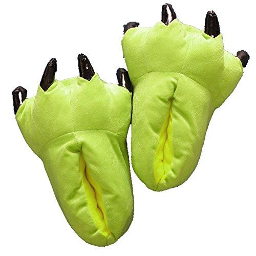 lifenewbaby rutschfeste Innen Winter Sleeper Cartoon Tier Paw Schuhe Anime Cosplay Schuhe, Kinder/Erwachsene lichtgrün