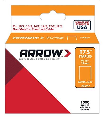 Arrow 031020 759 Boîte de 1000 Agrafes 14 mm pour Agrafeuse T75