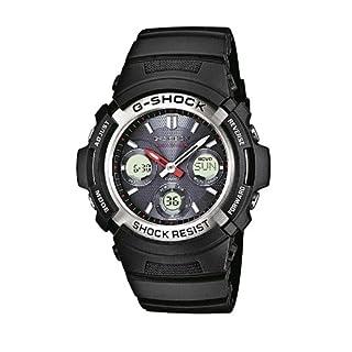 Casio G-Shock Analog-Digital Herrenarmbanduhr AWG-M100 Silber-schwarz, Solar und Funkuhr, 20 BAR AWG-M100-1AER
