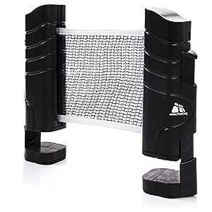 meteor Tischtennisnetze ausziehbar Tischtennis Netze Schwarz – Einziehbares Netz – einstellbare Länge mobiles tischtennisnetz für jeden Tisch 200(max) x 14,5cm