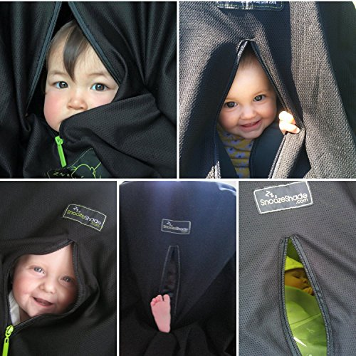 SnoozeShade Original – the blackout blind for prams & pushchairs (limited edition steel grey trim)
