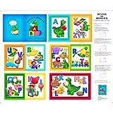 Quilting Treasures Dinosaur ABC-Buch-Stoff - Alphabet Soft