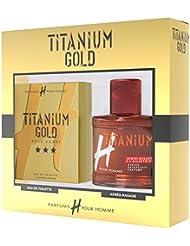 H POUR HOMME Titanium Coffret d'Eau de Toilette + Après Rasage pour Homme 75 ml