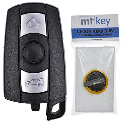 Custodia sostitutiva con telecomando per BMW Car Key Radio + Batteria ricaricabile per E87 E81 E90 E71 E53 E60 E64 E64 E84 E89 E92