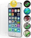 [2 Pack] Panzerglas für Apple iPhone 5 / 5S Schutzglas, Panzerglasfolie Schutzfolie Gehärtetes Glas 9H Displayschutzfolie Smartphone-Equipment
