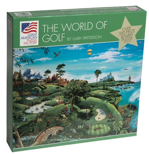 Cartoonist Gary Patterson The World of Golf 550 piece puzzle by Great American Puzzle Factory