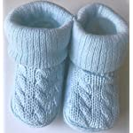 Newborn Baby Girls Boys Cable Knit Booties Socks