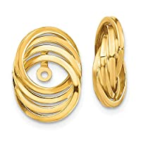 14ct Yellow Gold Hollow Polished Love Knot Earrings Jackets Jewelry Gifts for Women