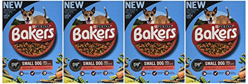 Bakers Complete Dog Food Small Dog Tender Meaty Chunks Tasty Chicken and Country Vegetables, 2.7 kg - Pack of 4 2