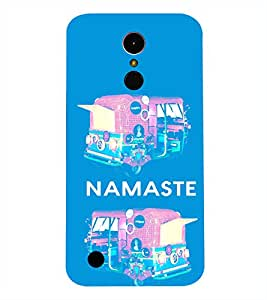 LG K10 2017 NAMASTE QUOTE PRINTED BACK CASE COVER by SHAIVYA