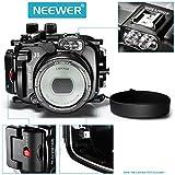 Neewer® 40m / 130ft Unterwasser -PC Gehäuse Kamera Unterwassergehäuse für Nikon 1 J5 mit 10-33mm Objektiv