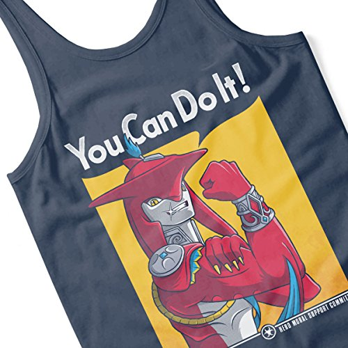 ... Prince Sidon You Can Do It Legend Of Zelda Breath Of The Wild Men's  Vest Navy ...