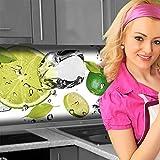 Küchenrückwand < Limetten Eiswasser > Premium Hart-PVC 0,4 mm selbstklebend 60x51cm