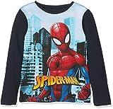 Marvel Spiderman Hero, Camiseta para Niños, Blue (Navy 19-4010tc), 3 años