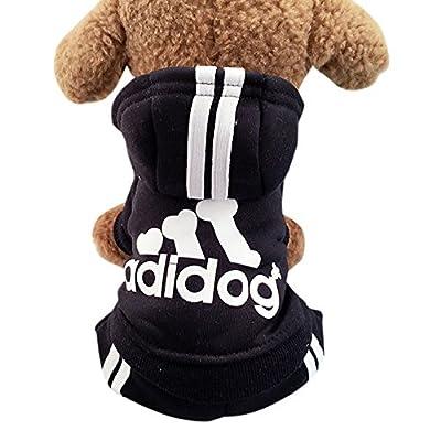 Idepet(TM) Adidog Pet Dog Cat Clothes 4 Legs Cotton Puppy Hoodies Coat Sweater Costumes Dog Jacket