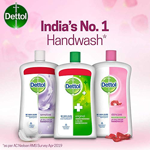 Dettol Liquid Hand Wash Jar Skincare 900 ml with Free Dettol Handwash 200 ml (Any Variant)
