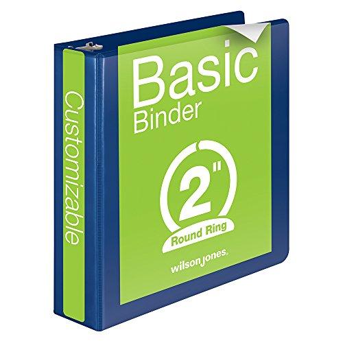Wilson Jones runder Ring anzeigen Binder, 2 Zoll, Basic, 362 Serie, anpassbare, Blau (W362-44BL)