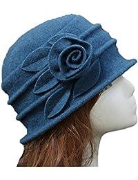 Amazon.it  cloche cappello - Blu   Donna  Abbigliamento 73766c8aa9e7